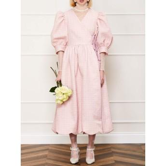Rosy Ray Midi Wrap Dress
