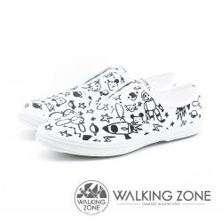 [親子款♥多款選]WALKING ZONE X Kellykiwi 夢想太空人 塗鴉親子鞋(男/女/童 款)-白