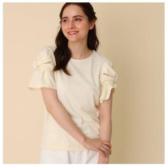 【クチュール ブローチ/Couture brooch】 【WEB限定サイズ(LL)あり/手洗い可】スリーブリボンプルオーバー