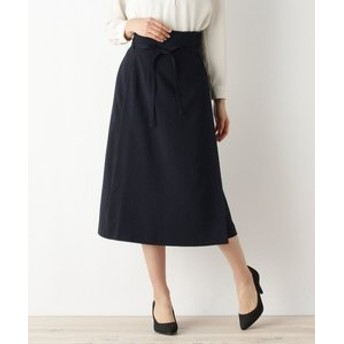 【OPAQUE. CLIP:スカート】【洗える、42(LL)WEB限定サイズ】ラップフレアスカート