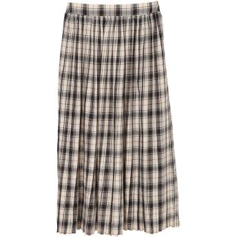【6,000円(税込)以上のお買物で全国送料無料。】チェック柄プリーツスカート