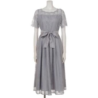 袖付レースロングドレス(9R04-124294)