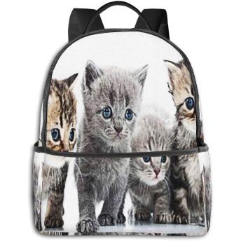 カジュアルバックパックファッションバックパック大容量学校レジャー旅行アウトドアビジネスワークコンフォートユニセックス 子猫グループスコットランド猫