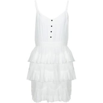 《セール開催中》MAJE レディース ミニワンピース&ドレス ホワイト 1 ポリエステル