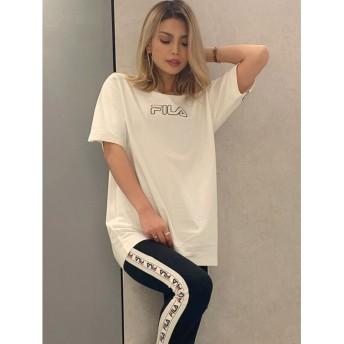 ジェイダ GYDA FILA BACK LINE BIG Tシャツ (O.WHT)
