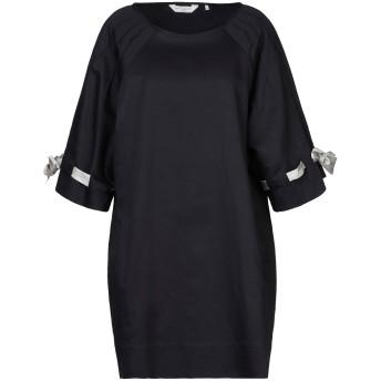 《セール開催中》GUGLIELMINOTTI レディース ミニワンピース&ドレス ブラック 44 リネン 54% / コットン 46%