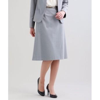 (TRANSWORK/トランスワーク)【セットアップ対応】【XSサイズ~】【美Skirt】トリアセルクスセミフレアースカート/レディース グレー