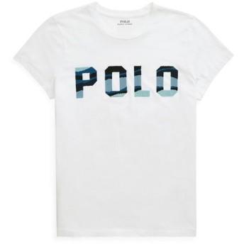 POLO RALPH LAUREN/ポロ ラルフ ローレン ビーデッド Polo Tシャツ 100ホワイト M