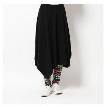 スカラー ScoLar レイヤード風スカート (ブラック)