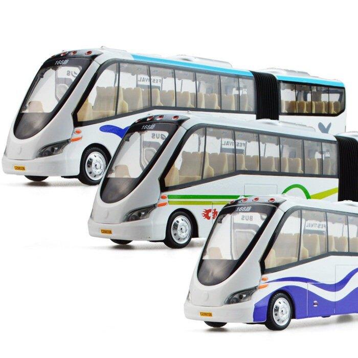 ╭。BoBo媽咪。╮盒裝 彩珀模型 1:36 雙節巴士 公共 公車 雙節公車 台中BRT 聲光回力車