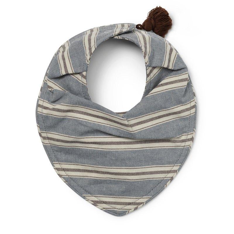 【瑞典ELODIE DETAILS】有機棉口水巾 - Sandy Stripe 條紋流蘇