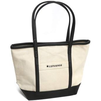 [コンバース]CONVERSE Canvas×Fake Leather Small Tote Bag トートバッグ 14536000 ホワイト/01