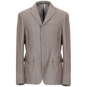 《セール開催中》EMPORIO ARMANI メンズ テーラードジャケット カーキ 48 麻 70% / コットン 30%