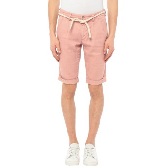《セール開催中》MASON'S メンズ バミューダパンツ ピンク 44 リネン 64% / コットン 34% / ポリウレタン 2%