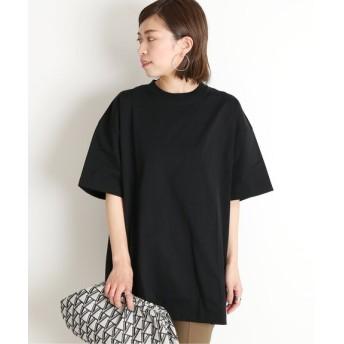 VERMEIL par iena 【ATON/エイトン】OVERSIZED T-シャツ◆ ブラック S