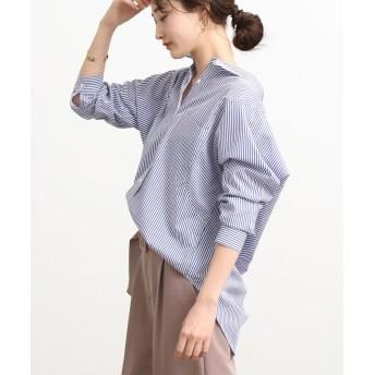 ビス バックシャンオーバーサイズシャツ レディース ブルー系(45) F 【ViS】