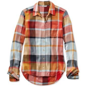 シグネチャー・ドレーピー・ボタンフロント・シャツ/Signature Drapey Button-Front Shirt