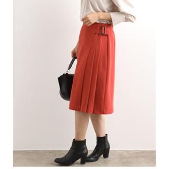 【ViS:スカート】【EASY CARE】サイドプリーツフレアスカート