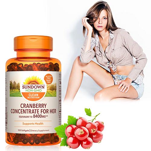 超級蔓越莓plus維生素D3軟膠囊(150粒/瓶)【Sundown日落恩賜】-商品有效期限2021/11月底