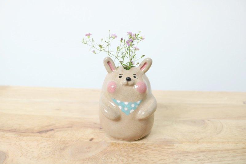 藍領小兔花瓶