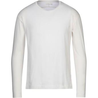 《セール開催中》6397 メンズ T シャツ アイボリー S ピマコットン 100%