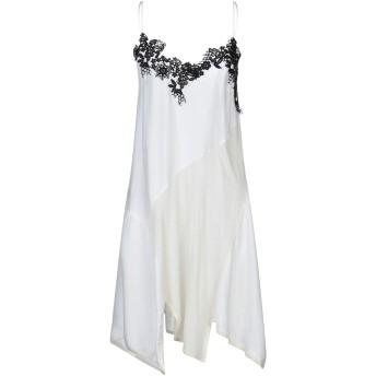《セール開催中》P_JEAN レディース ミニワンピース&ドレス ホワイト 40 レーヨン 80% / シルク 20% / 合成繊維 / ウール / コットン