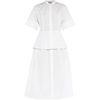 《セール開催中》JIL SANDER レディース 7分丈ワンピース・ドレス ホワイト 38 コットン 100%