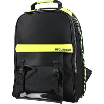 《セール開催中》DSQUARED2 メンズ バックパック&ヒップバッグ ブラック 紡績繊維
