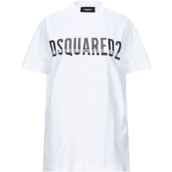 《セール開催中》DSQUARED2 レディース T シャツ ホワイト S コットン 100%