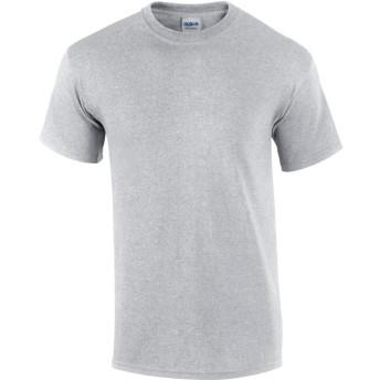 (ギルダン) Gildan メンズ ウルトラコットン クルーネック 半袖Tシャツ トップス 半袖カットソー 定番アイテム 男性用 (M) (アッシュグレー)