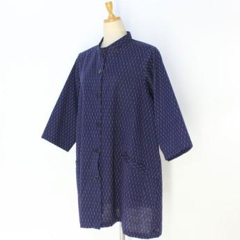 彦太謹製 久留米織り綿 スタンドネックジャケット JK10205