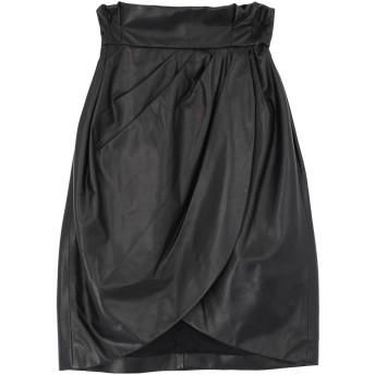 《セール開催中》VERSACE レディース ひざ丈スカート ブラック 38 羊革(ラムスキン) 100%