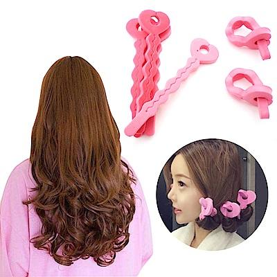 kiret空氣感愛心海綿髮捲(6入) 捲髮器 造型波浪 卷髮DIY 捲髮工具(隨機出貨)