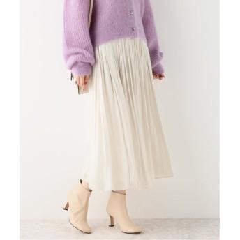 スピック&スパン 《追加7》シャイニーギャザースカート◆ レディース ホワイト 36 【Spick & Span】