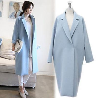 【韓國K.W.】西裝女外套風衣長款-1色