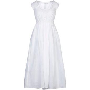 《セール開催中》MES DEMOISELLES レディース 7分丈ワンピース・ドレス ホワイト 34 コットン 100%