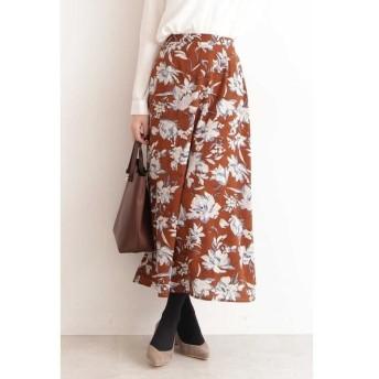 N.Natural Beauty Basic / エヌ ナチュラルビューティーベーシック フラワープリントマキシスカート