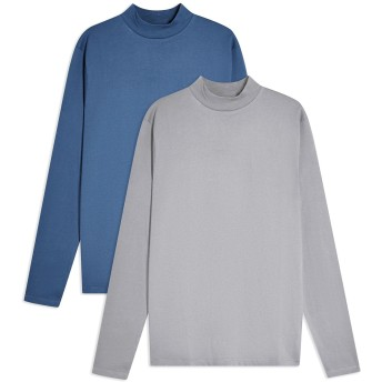 《セール開催中》TOPMAN メンズ T シャツ パステルブルー S コットン 100% BLU/GREY T-SHIRT