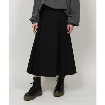 PUNYUS ボックスプリーツロングスカート(ブラック)
