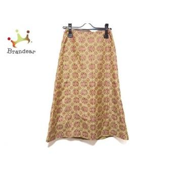 シビラ Sybilla ロングスカート サイズS レディース 美品 ライトグリーン×ボルドー×マルチ 新着 20200129