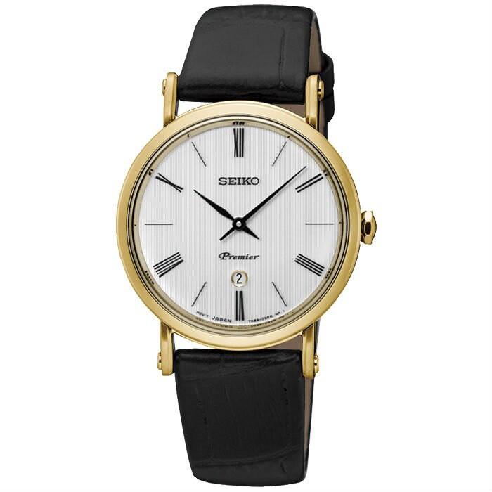 Seiko 精工錶 7N89-0AY0K(SXB432J1) 纖薄羅馬紳士腕錶/白面 30.5mm