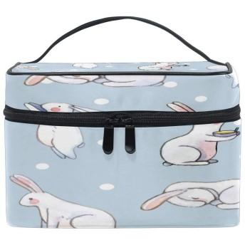 ウサギの動物のパターン 洗面バッグ 旅行用化粧品バッグ 大容量 ビジネス 化粧 ポーチ 収納