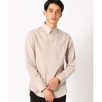 COMME CA ISM/コムサイズム ボタンダウンシャツ ベージュ M