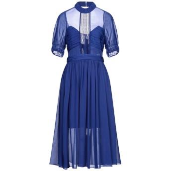 《セール開催中》SELF-PORTRAIT レディース 7分丈ワンピース・ドレス ブルー 4 ポリエステル 100%