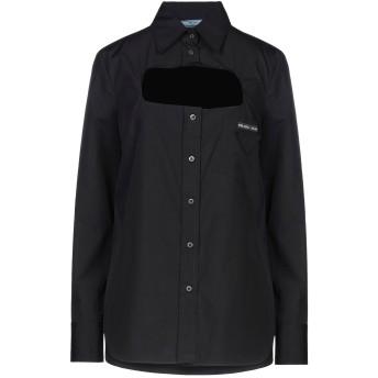 《セール開催中》PRADA レディース シャツ ブラック 44 コットン 100%