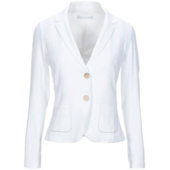 《セール開催中》FABIANA FILIPPI レディース テーラードジャケット ホワイト 40 コットン 94% / ポリウレタン 6%