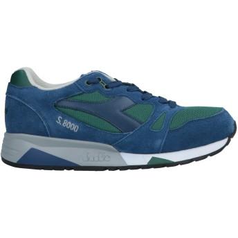 《セール開催中》DIADORA メンズ スニーカー&テニスシューズ(ローカット) ブルー 8 革 紡績繊維