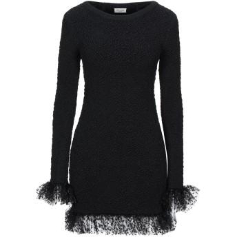 《セール開催中》SAINT LAURENT レディース ミニワンピース&ドレス ブラック XS シルク 91% / ナイロン 6% / ポリウレタン 3% / ポリエステル