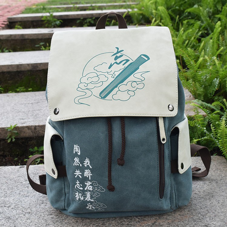JINXI  現貨 私人訂製 動漫雙肩包 書包 後背包 藍忘機 魏無羨 海賊王 綠穀出久 帆布書包