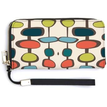 つまらない(エビ) ハンドストラップが付いているジッパーの長いクラッチの札入れの携帯電話の札入れの方法財布